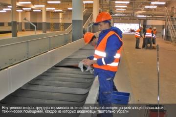 Внутренняя инфраструктура терминала отличается большой концентрацией специальных зон и технических помещений, каждое из которых шаденовцы тщательно убрали